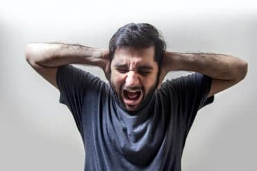 Man suffering from anxiety and depression.